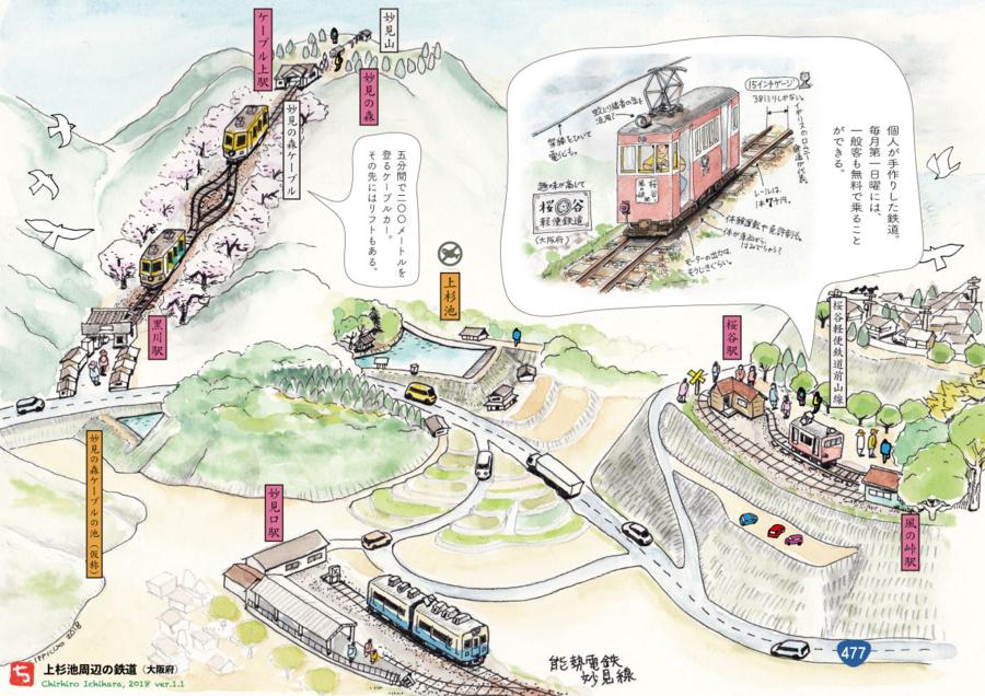 妙見山と上杉池(大阪)v1.1